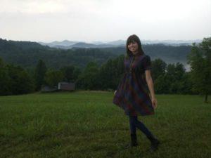 Author in Blue Knob, WV