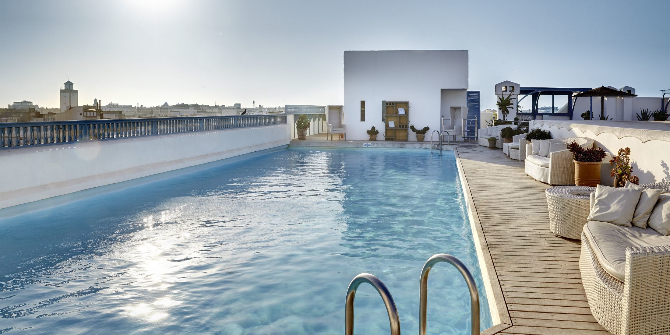 Rooftop pool at Heure Bleue