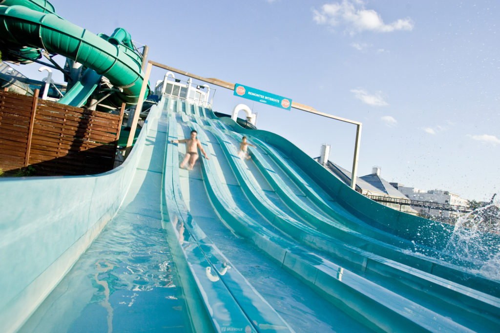 Aquaboulevard's outdoor waterslides