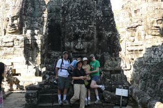 family at Angkor Wat, Cambodia
