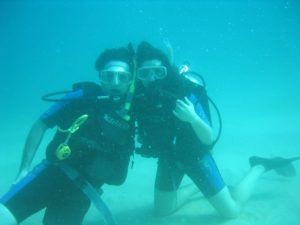 Scuba Diving Sister and Brother