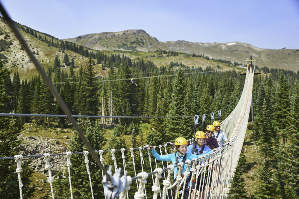 Aerial Bridge at Breckenridge Mountain, Colorado