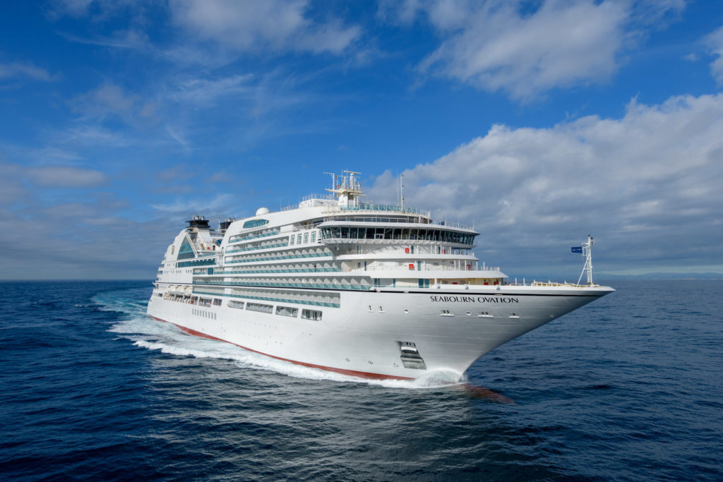 The Seabourn Ovation at sea. Photo c. Carnival Cruise Lines