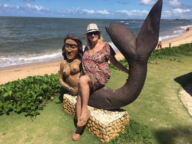 Mermaid statue at Praia do Forte, Brazil