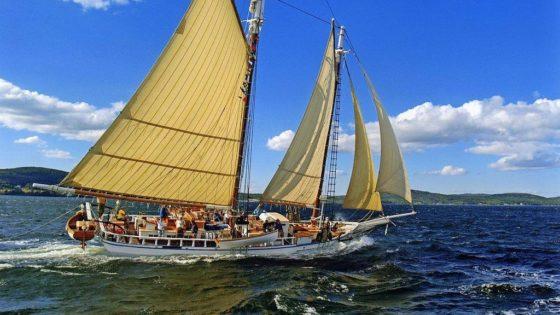 schooner at sea