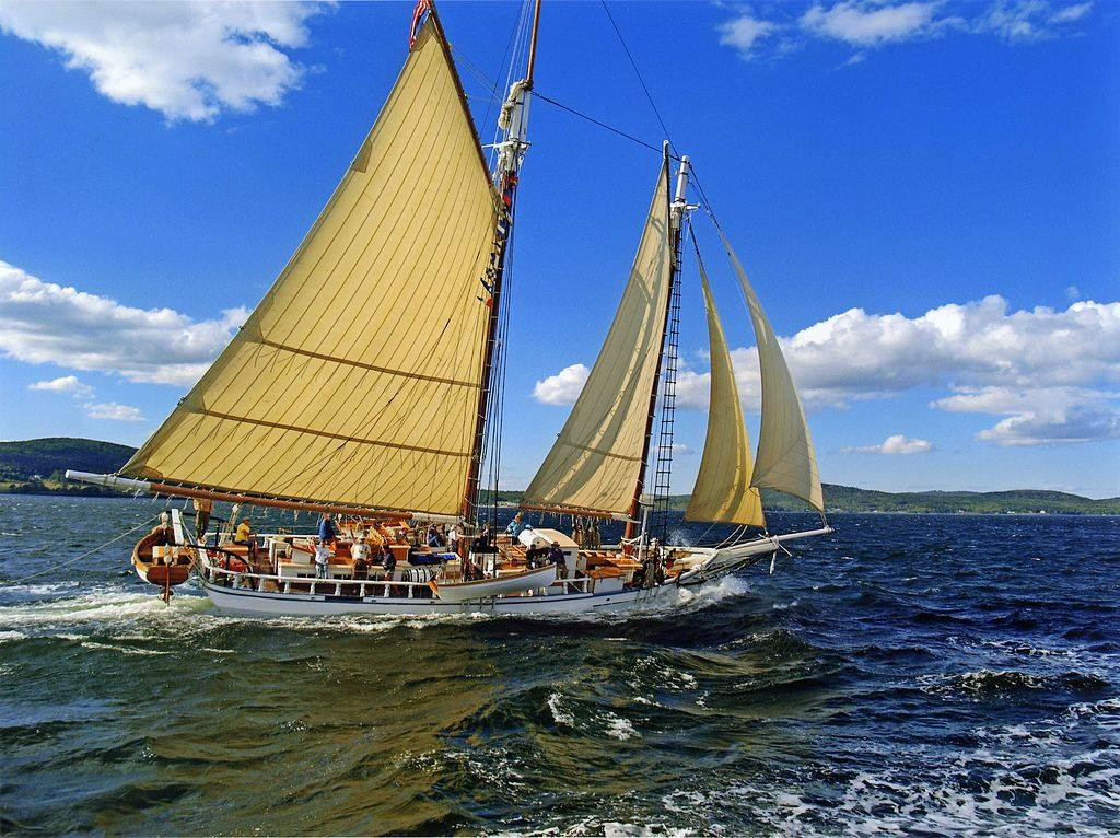 schooner at sea