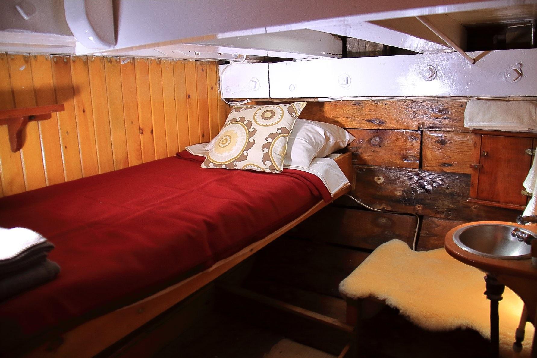 cabin aboard historic maine schooner