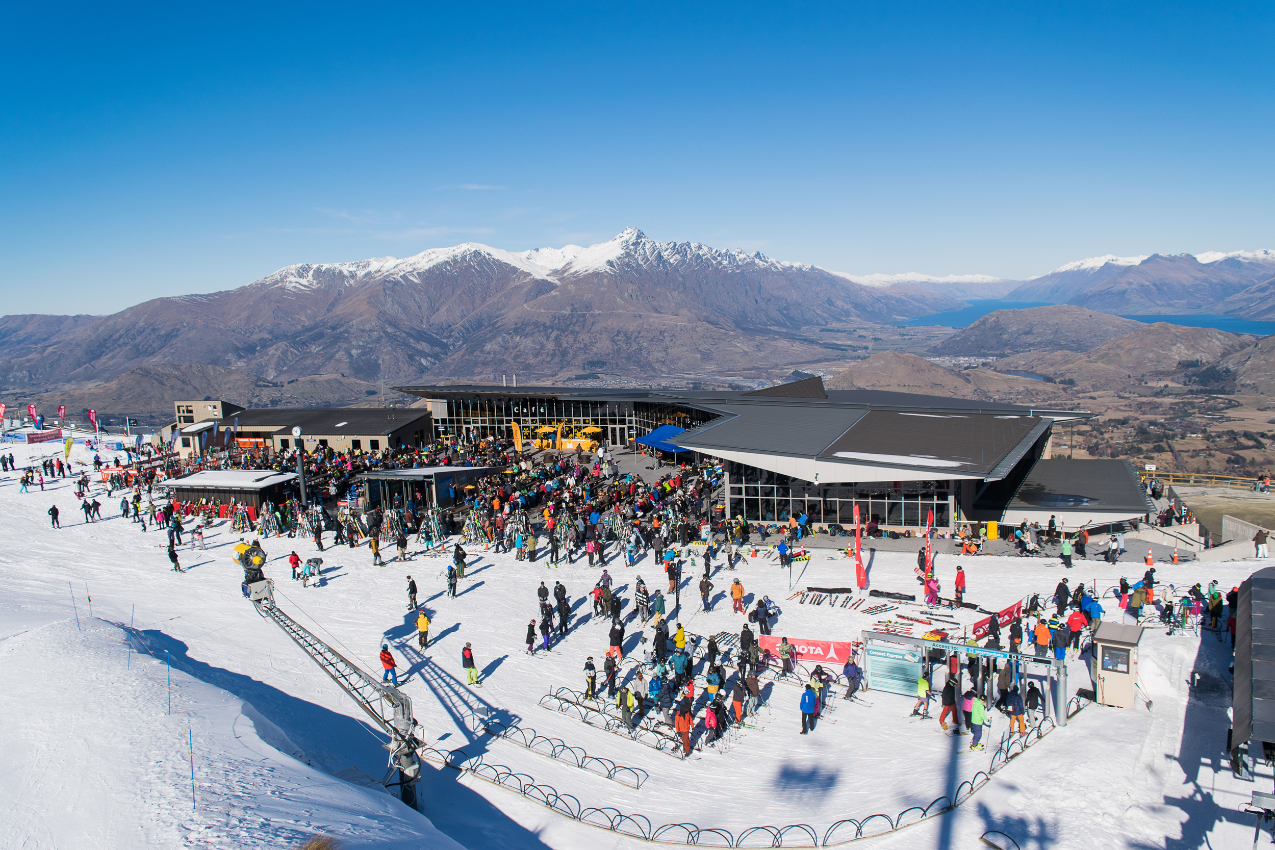 Base area of Coronet Peak, outside Queenstown, New Zealand