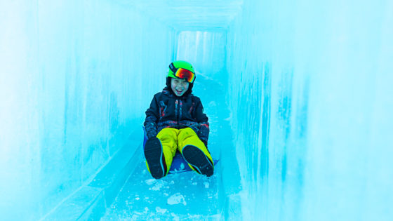 Ice Castle slide at Coronet Peak, New Zealand