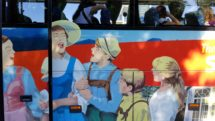 "Panorama Bus Tours ""Sound of Music"" decorated bus."