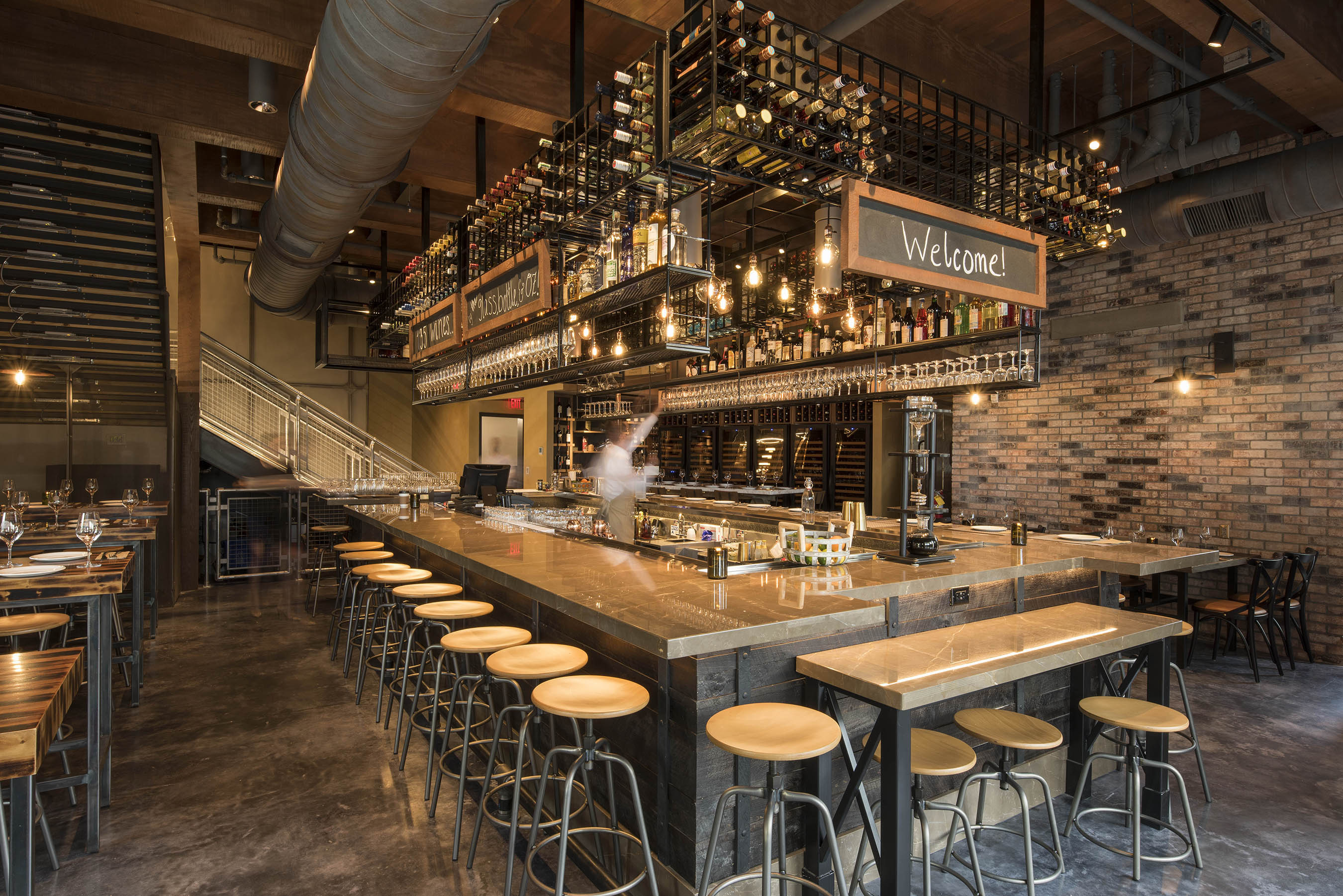 Interior of Wine Bar George at Disney Springs