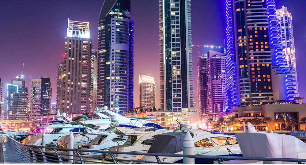 yacht charters at Dubai city marina