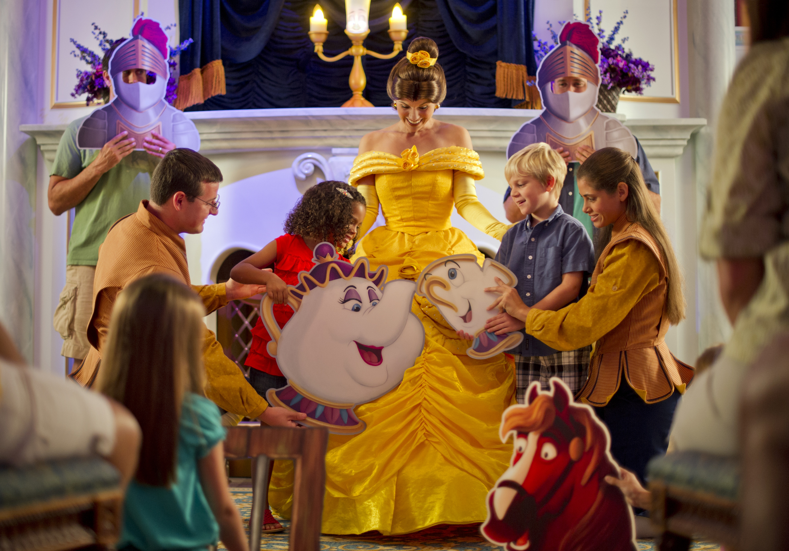 Magic Kingdom guests join Belle and Lumiere in a fun-filled storytelling adventure