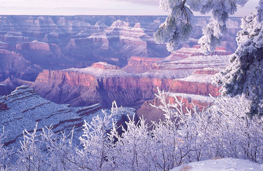 The Grand Canyon is magical in winter