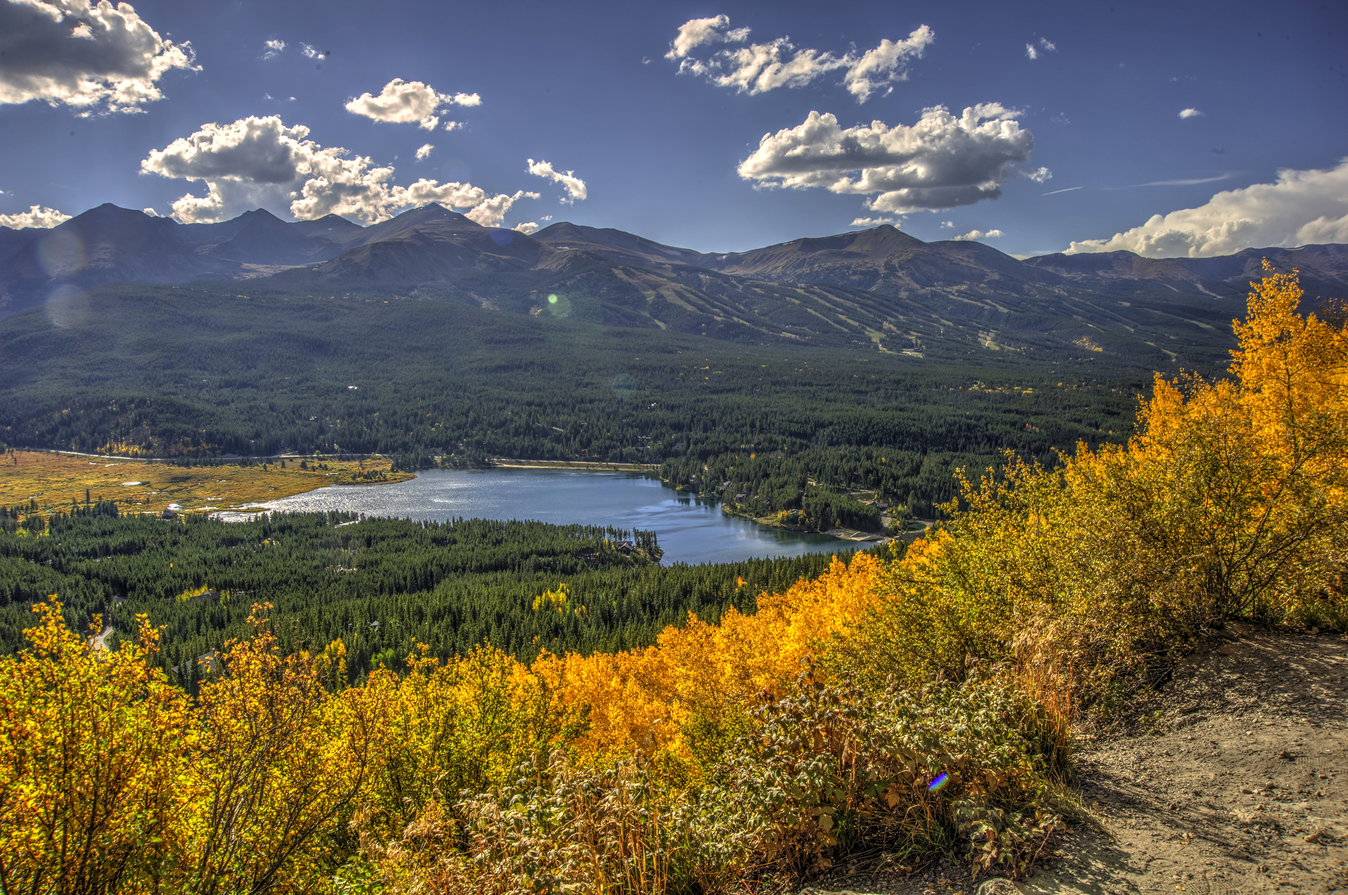 Fall colors come early and in spectacular fashion to Breckenridge, Colorado.