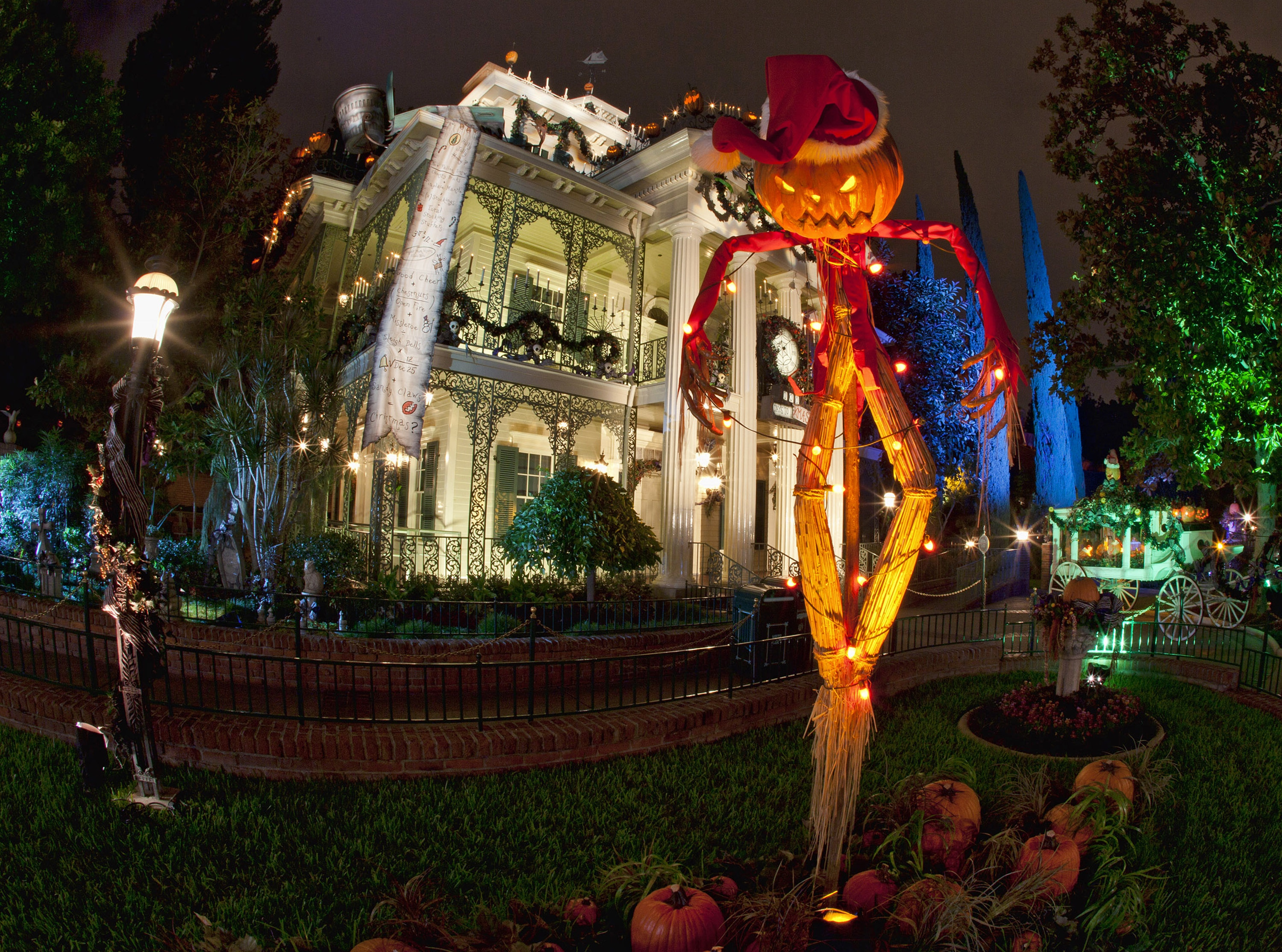 "Haunted Mansion Holiday brings the frightfully fun cheer of ""Tim Burton's Nightmare Before Christmas"" to the Disneyland Resort"