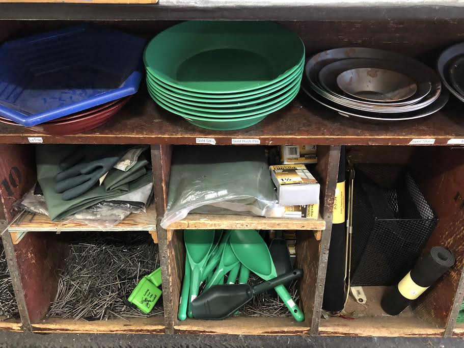 The hardware store in Placerville can load you up with all the gold panning gear you need