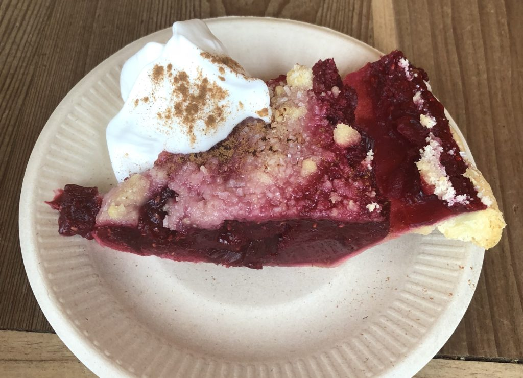 The Argonaut is famous for its rhubarb raspberry pie.