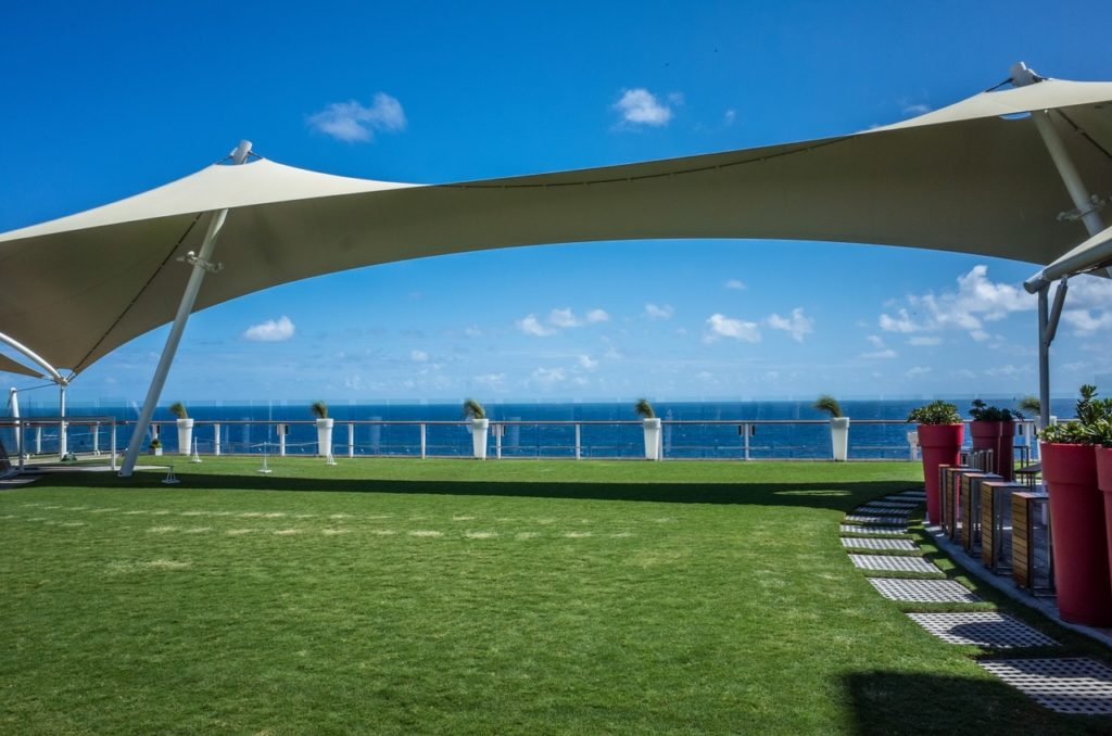 the live lawn located on Deck 14 of the Celebrity Equinox,