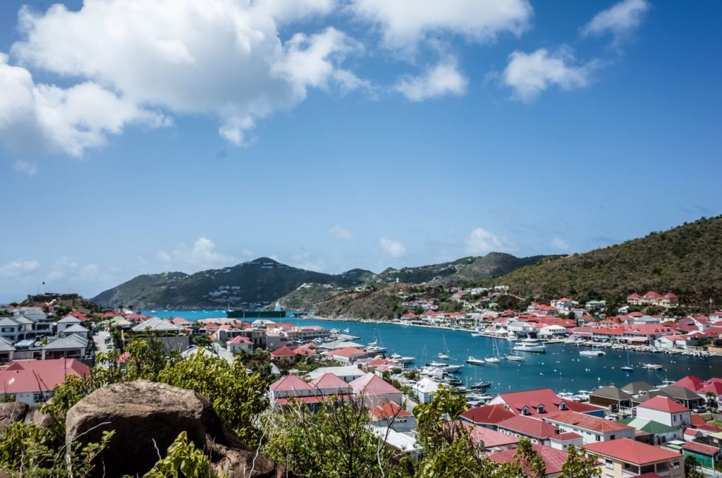 The port of Gustavia on the island of St. Barthelemy