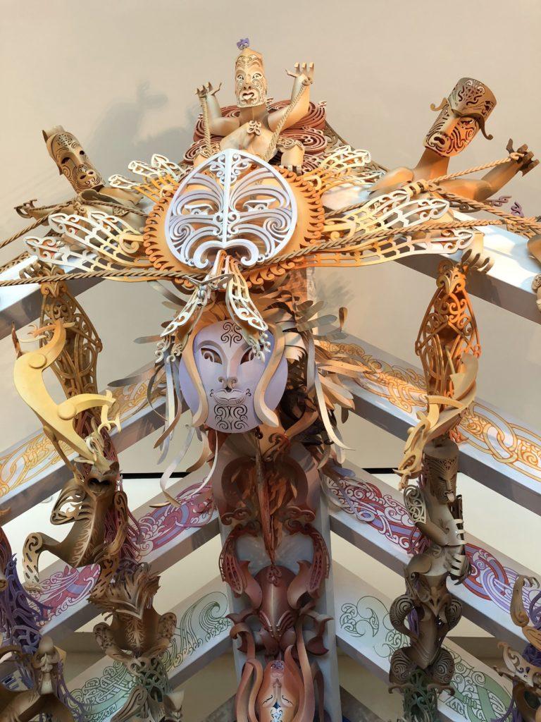 Maori sculpture at Te Papa Tongarewa museum