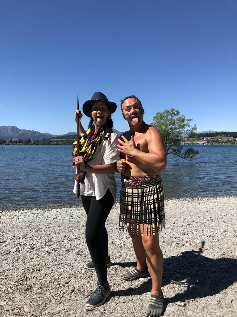 Maria gets lesson in being a Maori warrior from Wanaka Joe