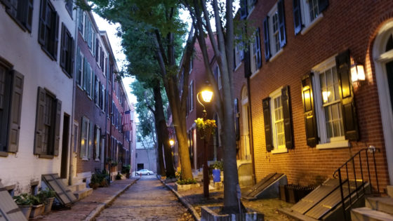Colonial era homes in Philadelphia's Historic Districts.