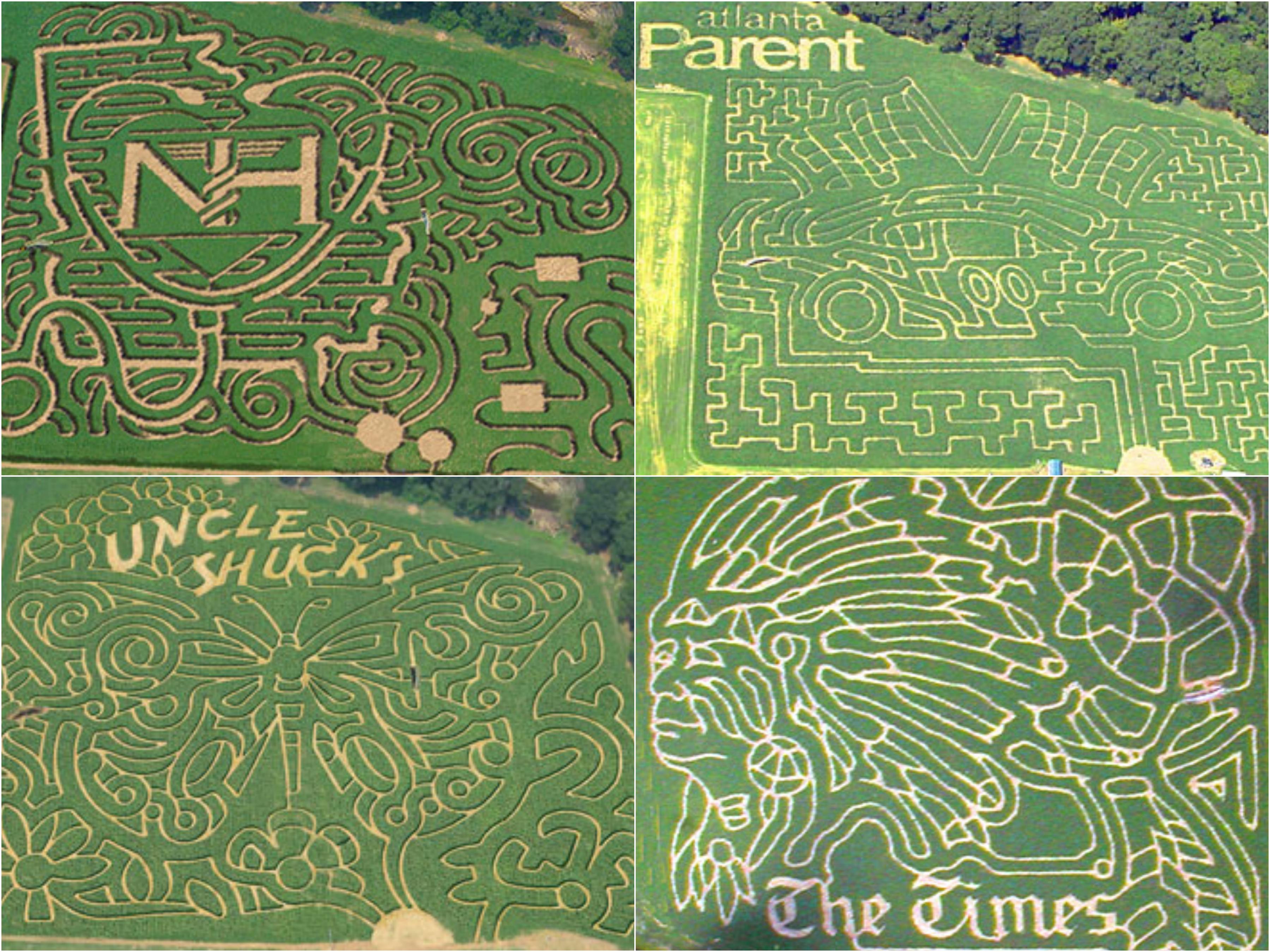 past corn mazes at Uncle Shuck's Farm