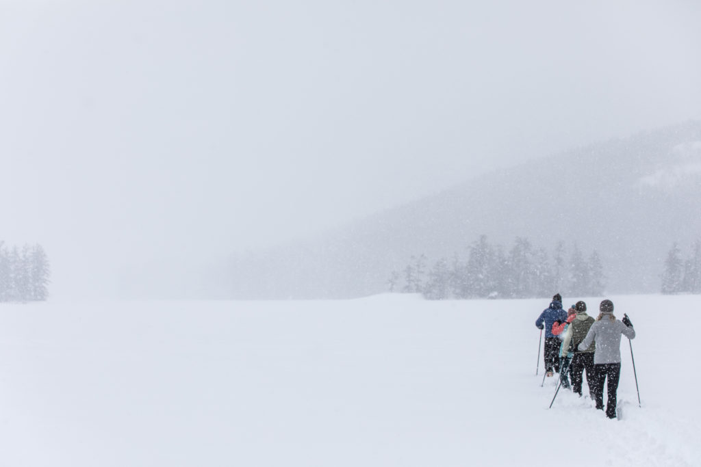 Maine in winter is the ideal place to introduce the whole family to cross-country skiing.
