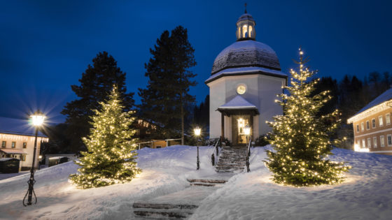 The Silent Night Chapel in the village of Oberndorf © Tourismusverband Oberndorf