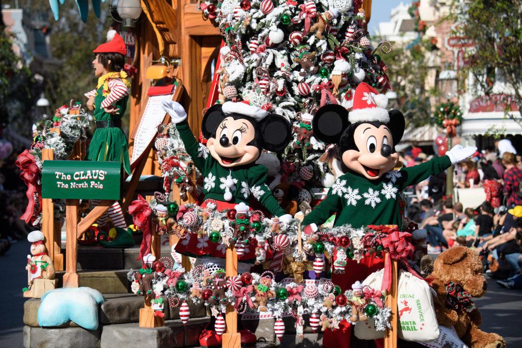 """Visitors love the fun """"A Christmas Fantasy"""" Parade, performed daily at Disneyland Park"""