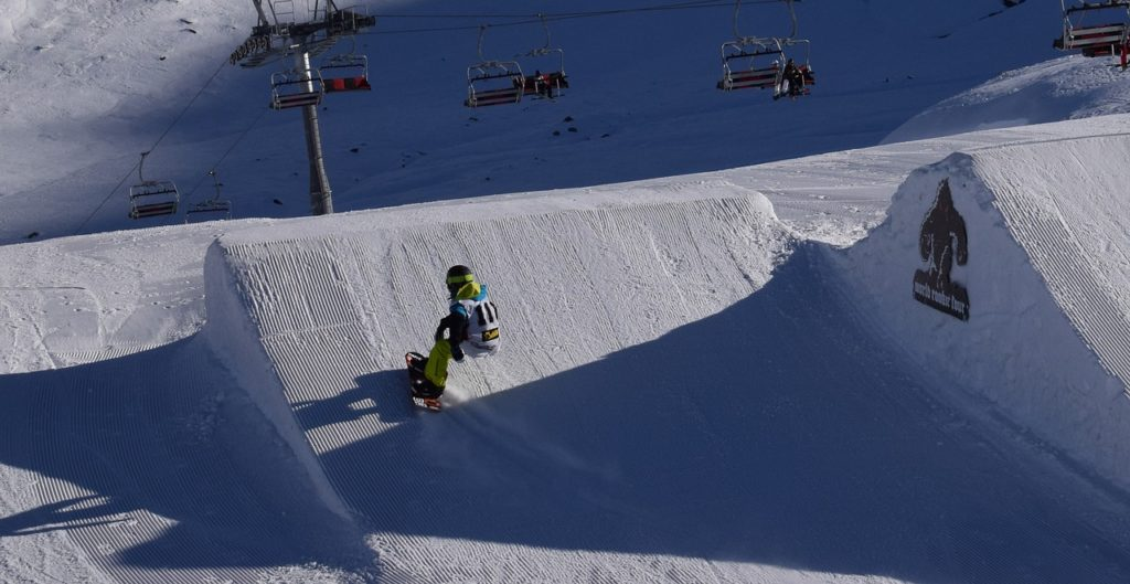 terrain parks with custom made pipes