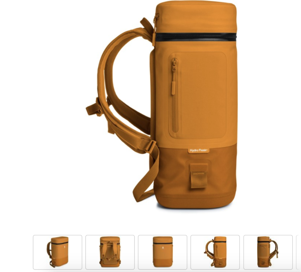 The sleek Unbound Cooler from Hydroflask is easy to carry when backpacking. Photo c. REI