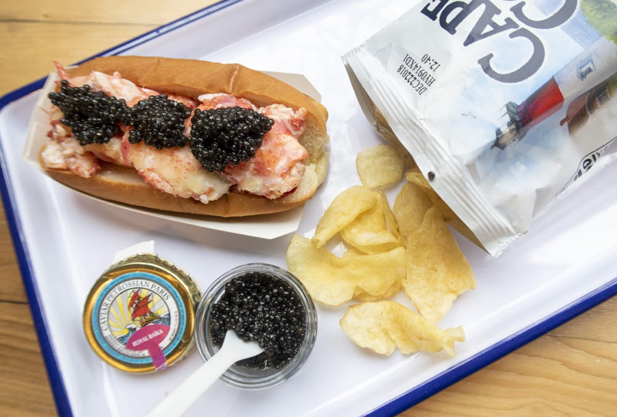 Luke's Lobster Roll with Petrossian Caviar