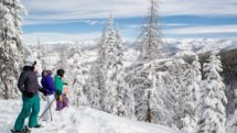 Vail Resorts on a blue sky day makes it all worthwhile; photo c. Hostelworld.