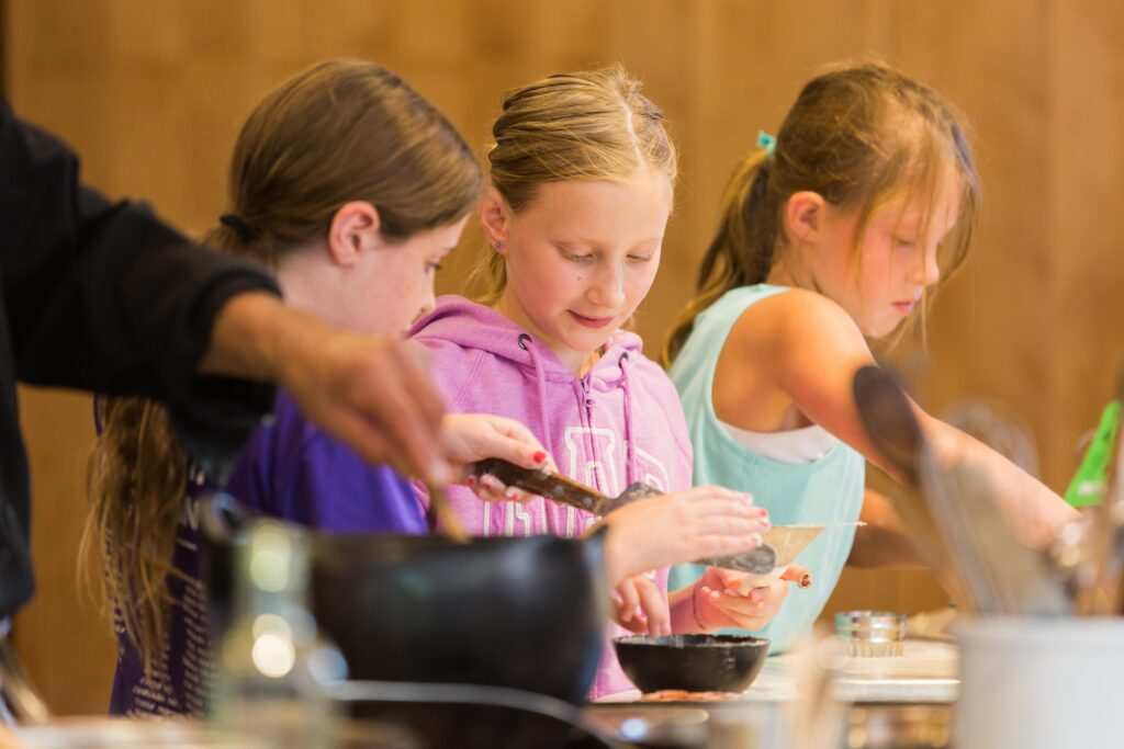 "cooking class on the ""Cooking Up Fun in Santa Fe With Your Grandchild"" learning vacation with Road Scholar."