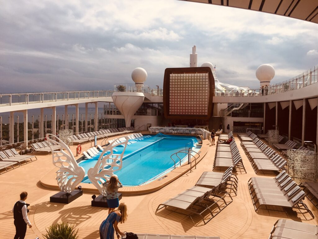 Pool Deck of the Celebrity Edge cruise ship