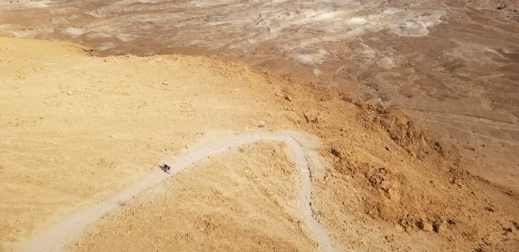 Climbing path to Masada site.