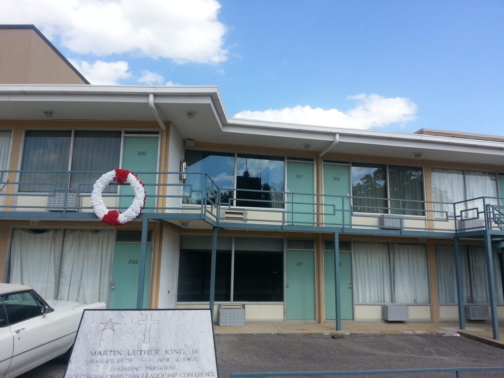 The Lorraine Motel and National Civil Rights Museum in Memphis.