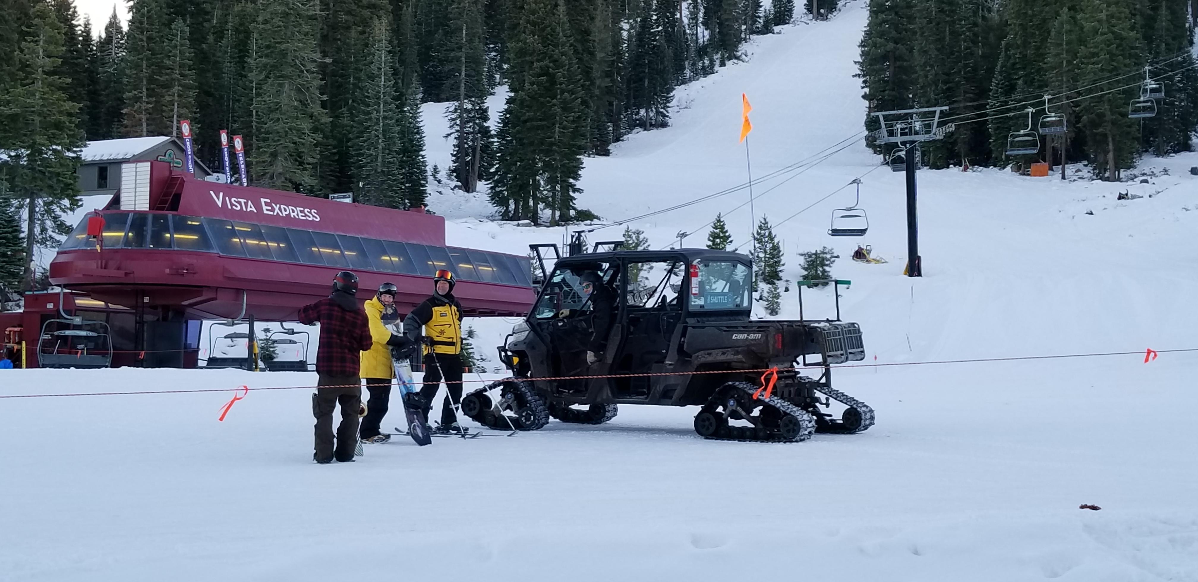 Northstar's free Snowcat ride service