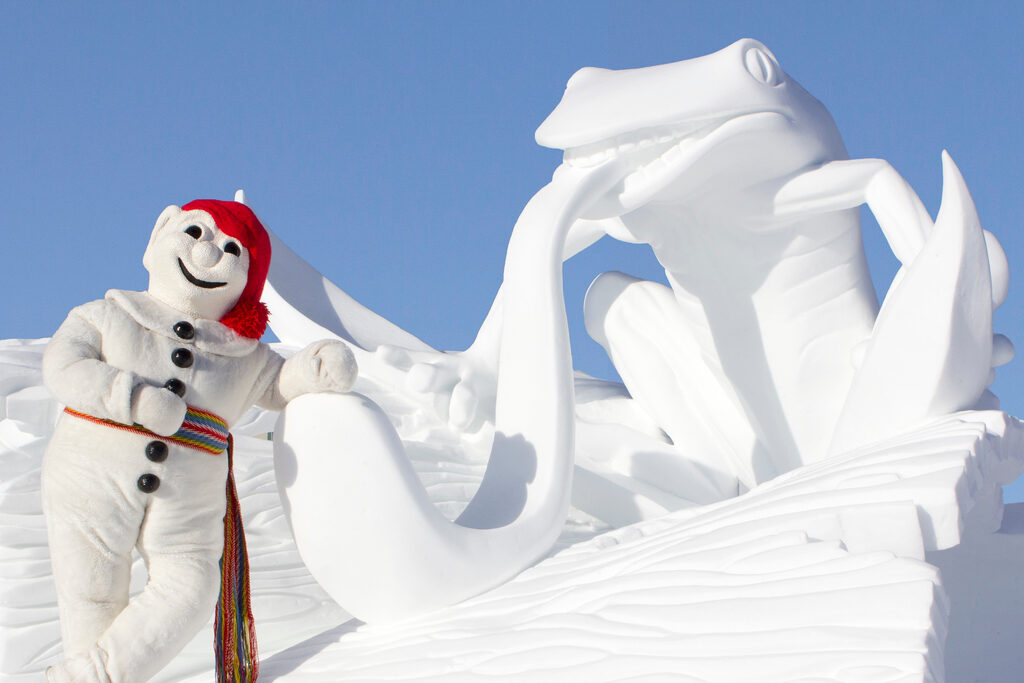 Bonhomme is the mascot of the annual Quebec Winter Festival