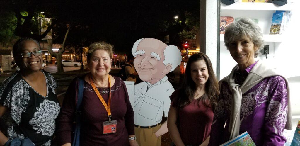 Pose with former prime minister Ben-Gurion along Tel Aviv's Independence Trail.