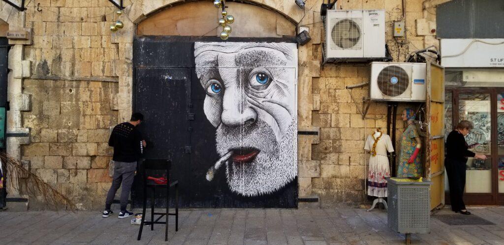Graffiti and street art are seen all over Tel Aviv