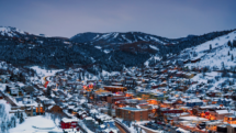 The chic Western style mountain town of Park City, Utah