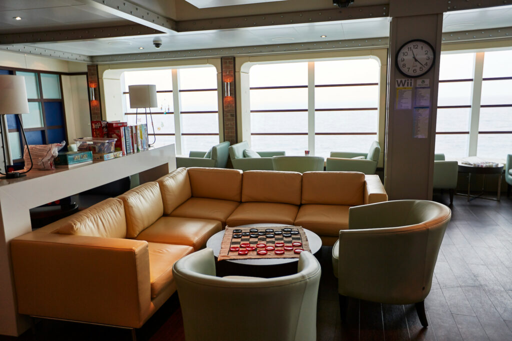 The Camp Discovery lounge aboard the Majestic Princess