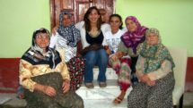 Author and Villagers in Turkey
