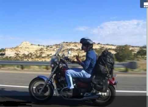 Author Motorcycling Through Utah
