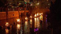 WaterFire Festival fires