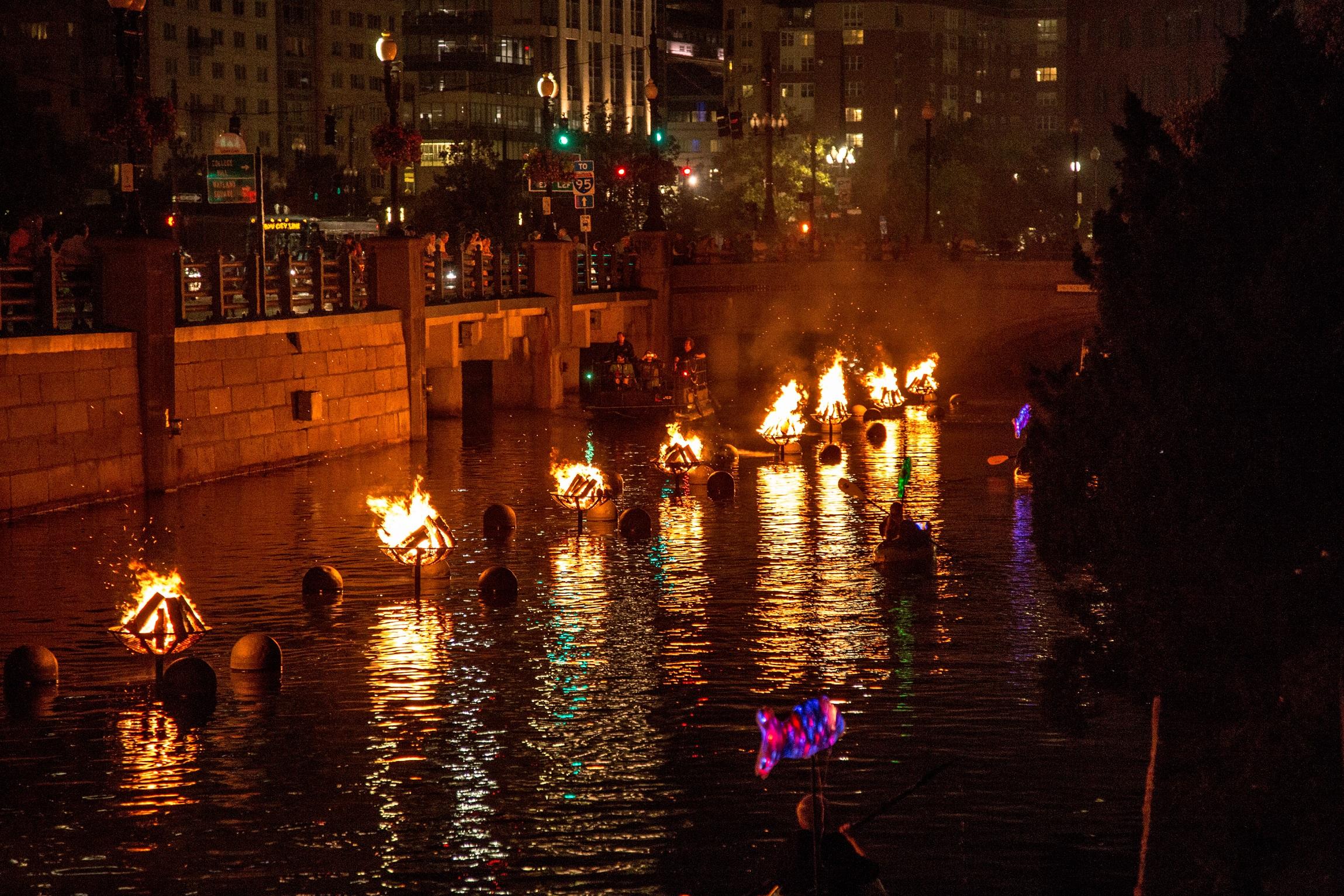 WaterFire In Providence Rhode Island