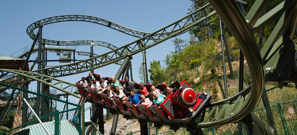 Wild coaster at Dollywood